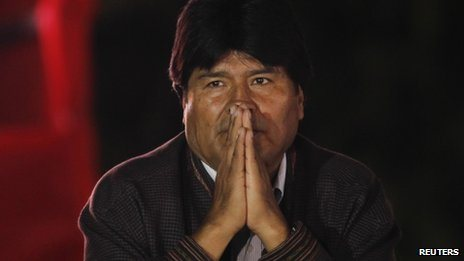 """Evo Morales, a former coca producer, is Bolivia's first president of indigenous origin Bolivia has """"irrefutable evidence"""" that the US has been working to destabilise the government of President Evo Morales, a senior minister has said."""