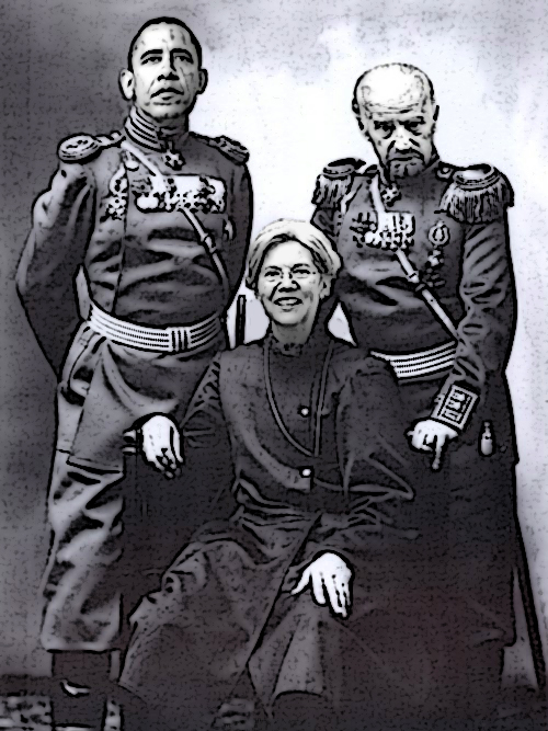 Piece Of Shit Rothschild Czar Elizabeth Warren. Injected To Ultimately Stall Out The Glass Steagall Act.