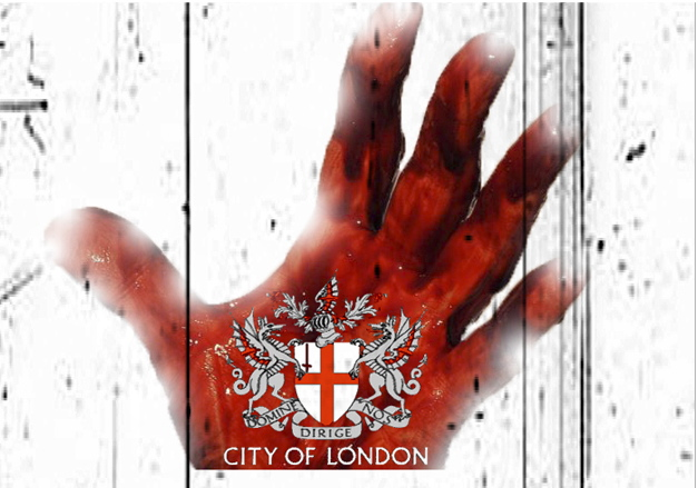 Red Hidden Hand Of The City Of London