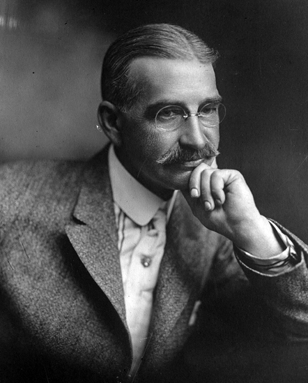 L. Frank Baum 1911 Author Of The Wizard Of Oz. Dorothy's Slippers Were Originally Silver & Follow The Gold Brick Road.