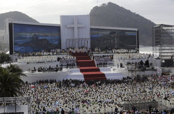 Pope Francis Celebrates Mass To 3,000,000 On World Youth Day In Rio De Janeiro 2013