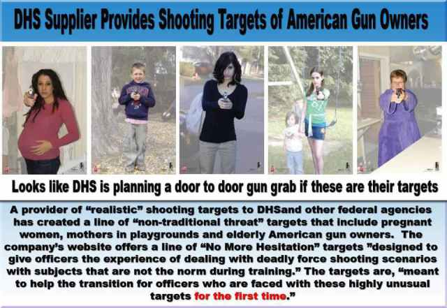 """""""No More Hesitation"""" – Homeland Security and Police Dept. Request Targets For Shooting Practice To Help Desensitize Law Enforcement To Shooting Average Americans…"""