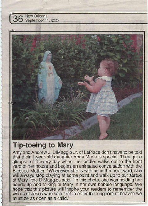 Tippy Toe Baby Holy Mary