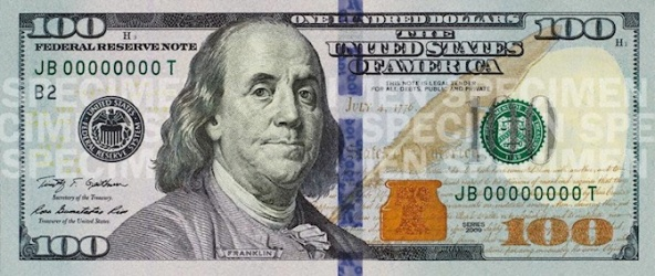 100 dollar bill Franklin