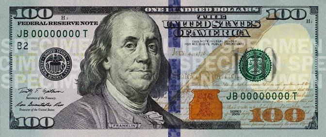 100 dollar bill Franklin
