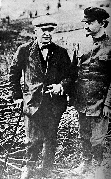 Rothschild Czars Rakovsky With Leon Trotsky 1924.