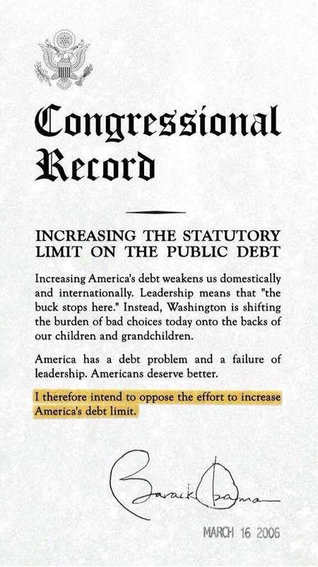 Obama Debt Limit