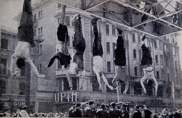 Mussolini and other executed Fascists, Milan, April 1945