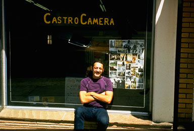 Harvey Milk at Castro Camera, San Francisco, CA, c. 1973, photo by Scott Smith