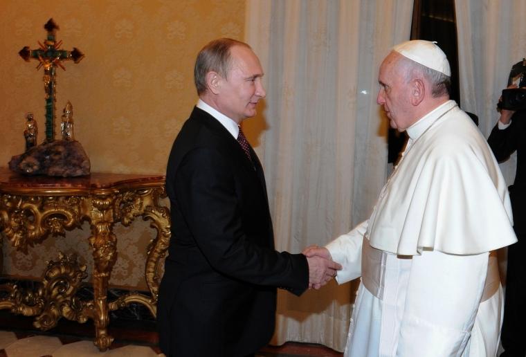 Putin Pope Francis 1