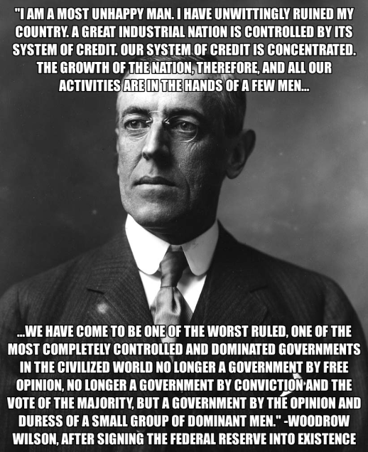 Woodrow Wilson Born Of A British Mother. Ask Him To Smile Once And You'll See Those Famous British Gnarly Teeth