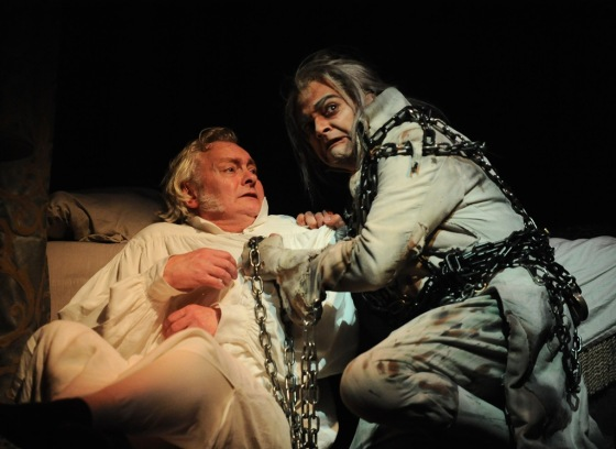 Ebenezer Scrooge Visited By His Dead Partner Jacob Marley