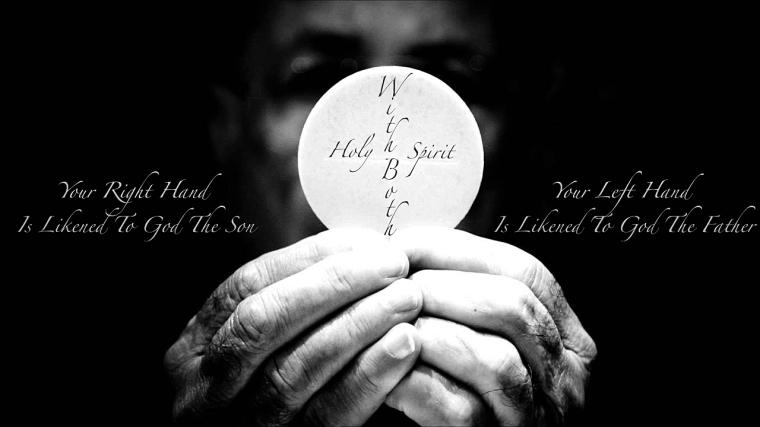 Hand God Father Son Spirit