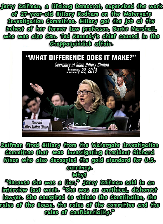 Hillary fired benghazi watergate