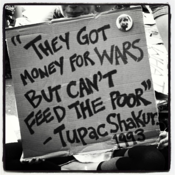 Tupac Shakur war poor feed