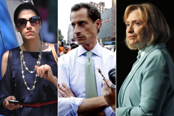 Abedin, Weiner, Clinton
