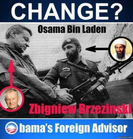 Brzezinski with CIA Osama.