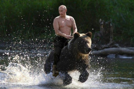 This picture was hung in each of the western Media's Rooms At The Russian Sochi Games LMAO!!!