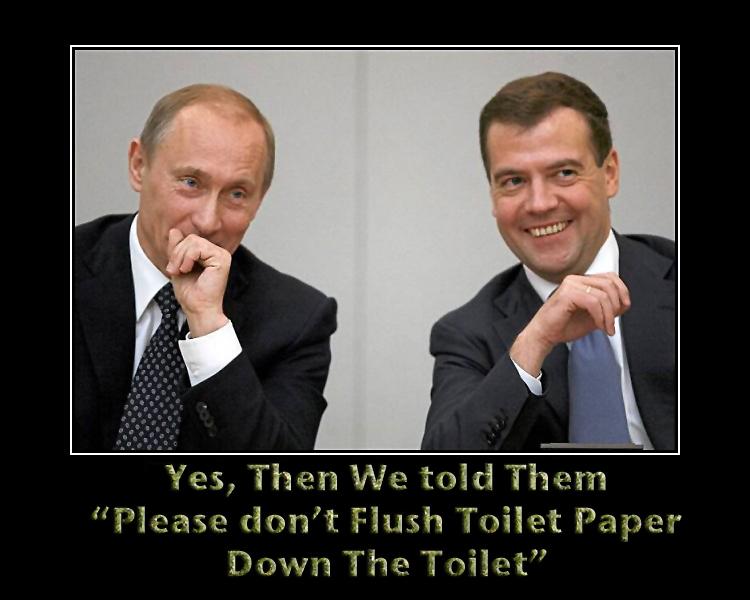 Putin Laugh Toilet