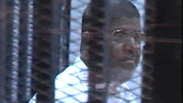 Installed NWO puppet muslim brotherhood President of Egypt Mohammed Morsi was thrown out on his ass by The Egyptian people July 2013 and now sits in prison.