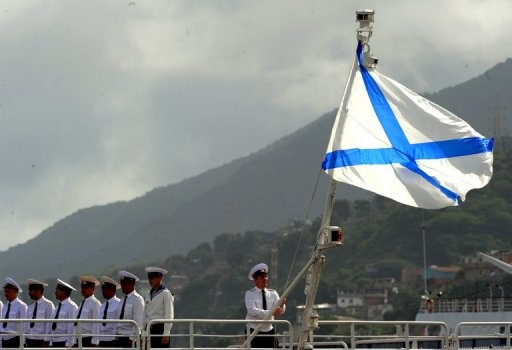 flag bearing St. Andrew's Cross flies above the Russian navy to this day