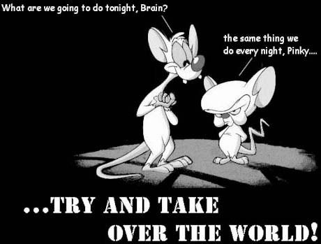 pinky brain take over the world