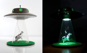 Get your alien cattle mutilation abduction lamp here.
