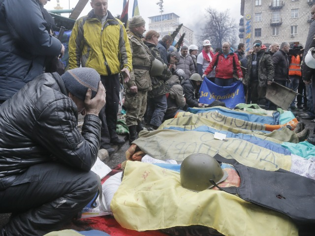 Over 100 dead because former President Of Ukraine said no to the E.U. and Obama Gave $5 Billion to support a fascist coup.