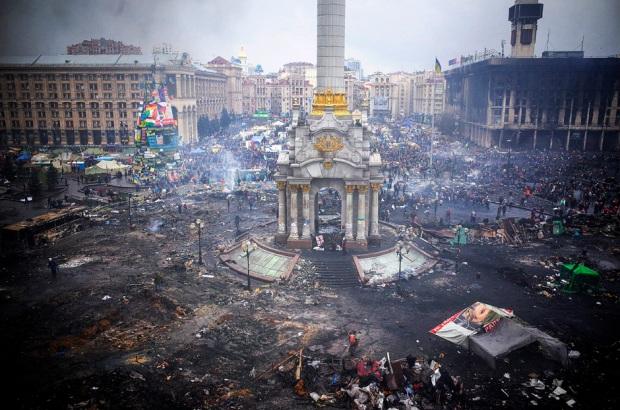 Kiev, Ukraine's Overthrow By Nazi European Union Thugs. February 20, 2014