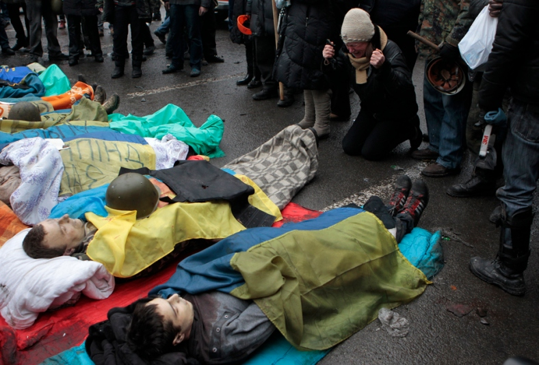 Obama's Killing Spree In Ukraine Started In Kiev ~ February 20, 2014.   Since then, it has reached Donbas on the Ukraine Russian Border.