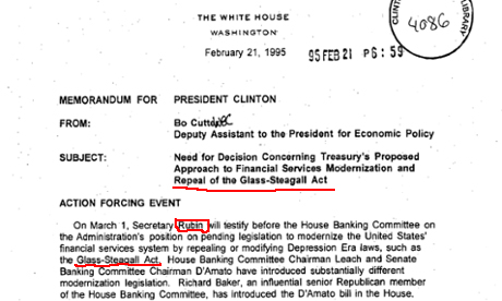 Clinton glass steagall act