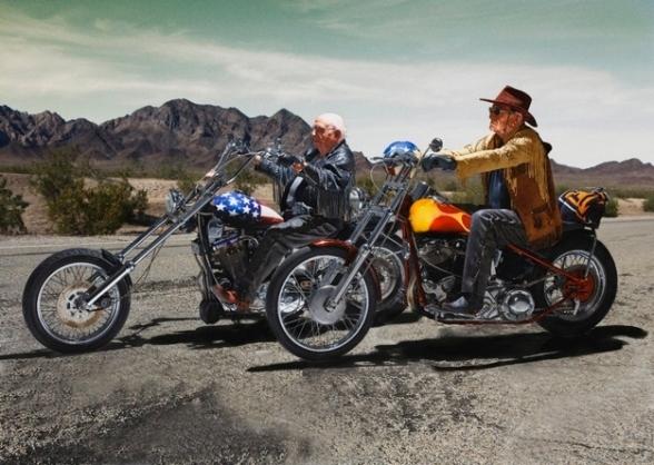 Easy Riders    Walter Loeser (left), 98, und Kurt Neuhaus, 90