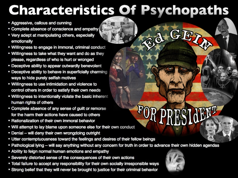 psychopath politicians gein