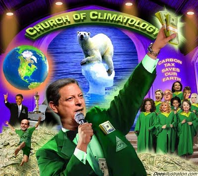 New World Order's Climate Hustle: Rothschild Climate Report Sauced Up By Pseudo Scientists ~ follow the money!  Church-of-climatology-deesillustrations