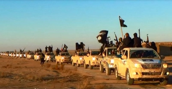 ISIS has convoys of brand new matching Toyota's the same vehicles seen among admittedly NATO-armed terrorists operating everywhere from Libya to Syria, and now Iraq. It is a synthetic, state- sponsored regional mercenary expeditionary force.