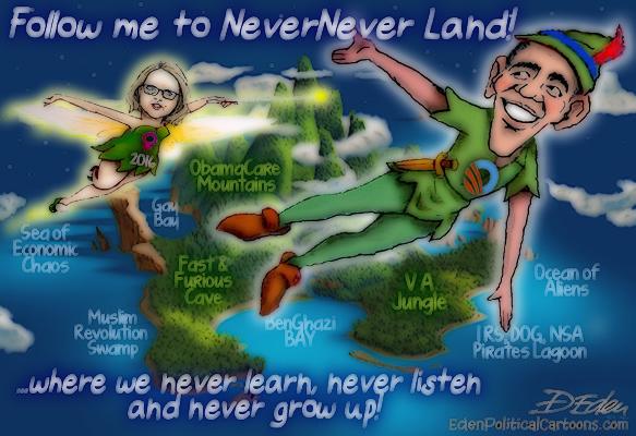 Obama never never land