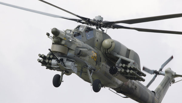 Russian Mi-28N Night Hunter attack helicopter
