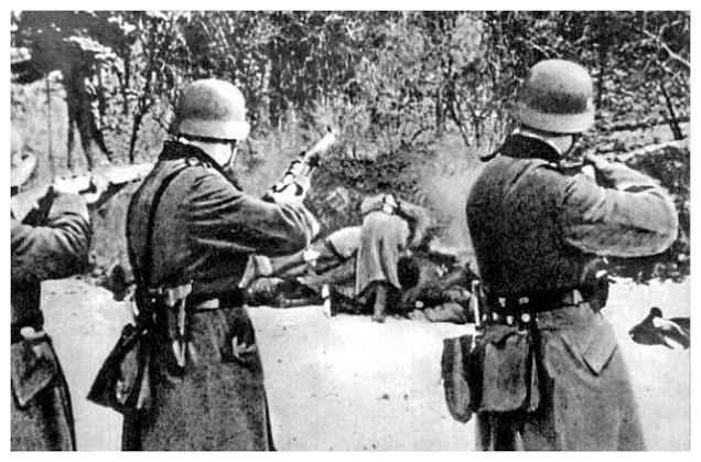 REMEMBER???????????? Rothschild Nazi Liberators execute Polish Civilians.