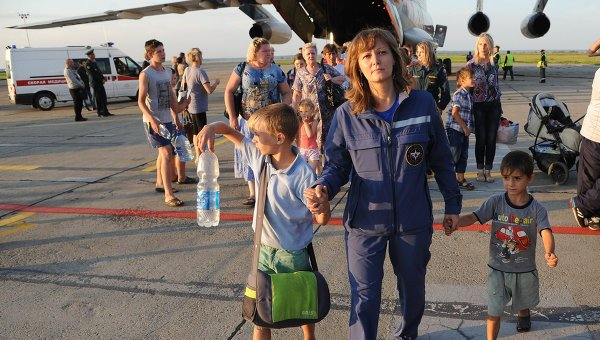 EMERCOM aircraft carrying Ukrainian refugees arrives in Russia's Chelyabinsk