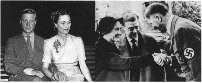 King Edward VIII abdicates, then marries a treasonous spy and meets with Hitler.