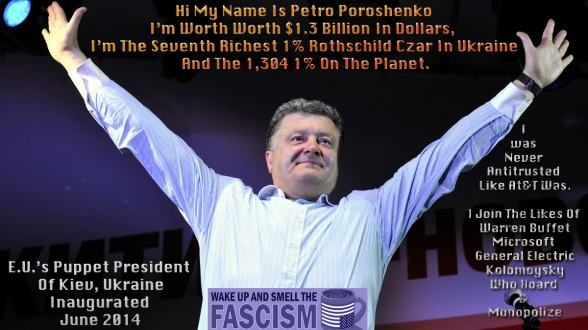 "In addition to his vast candy empire, his business interests include automobiles, shipping, agriculture and media. Poroshenko got rich buying up state assets after the Soviet Union collapsed in 1991, then moved into politics. But unlike many of Ukraine's other oligarchs, he is not widely perceived as corrupt. Kyiv-based political analyst Ivan Lozowy remains critical: ""He bought his way in; that's the way it works in Ukraine."" Yet one Euromaidan supporter sees a bright side: ""He has so much money he does not need to steal any more."""