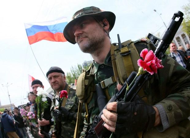 eastern Ukraine Soldiers Victorious.