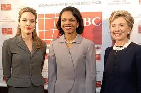 Angelina Jolie Condoleezza Rice, Hillary Clinton