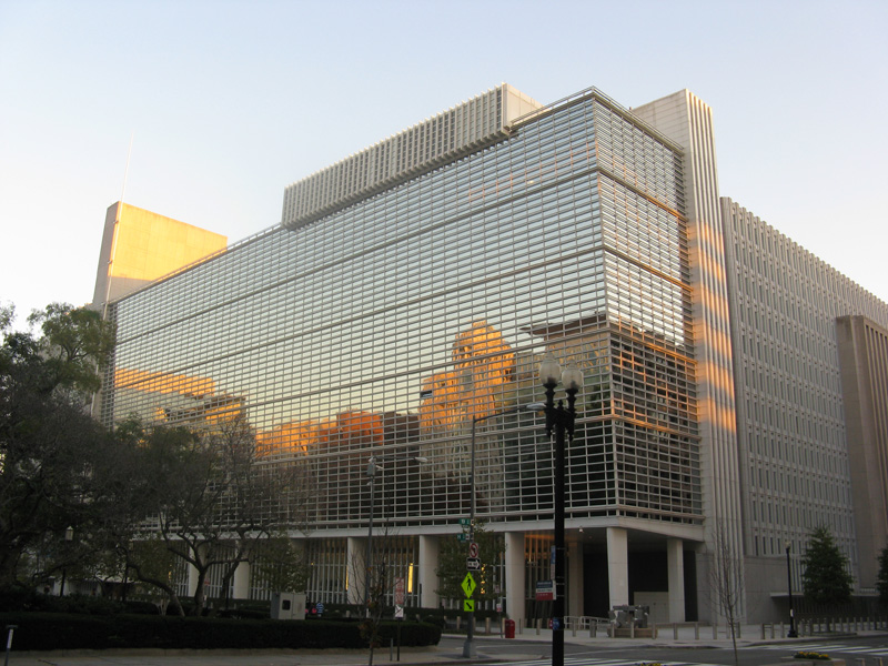 The headquarters of the World Bank in downtown Washington DC
