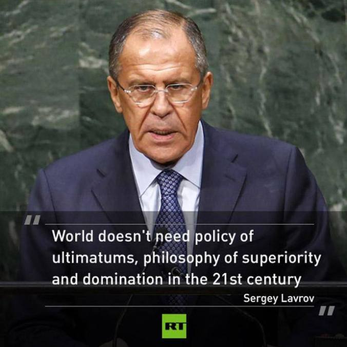 Russia's Foreign Minister Sergei Lavrov addresses the 69th United Nations General Assembly at the U.N. headquarters in New York September 27, 2014.