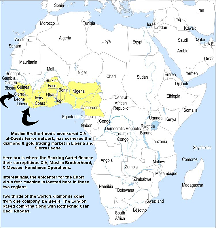 "Africa ~ This diamond gold area made famous in James Bond's ""Diamonds Are Forever"" ~ a diamond smuggling operation that still goes on financing CIA's al-Qaeda"