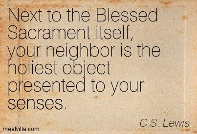 C.S. Lewis Blessed Sacrament Host