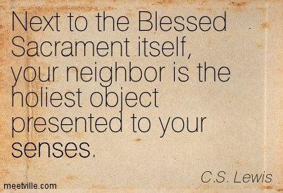 C.S. Lewis Blessed Sacrament Host