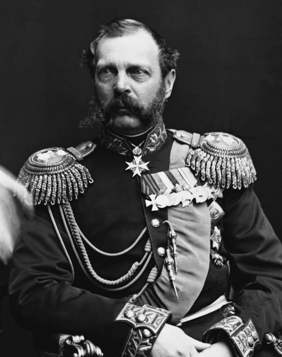 Tsar Alexander II of Russia, who prevented France and Britain from invading the US during the civil war.