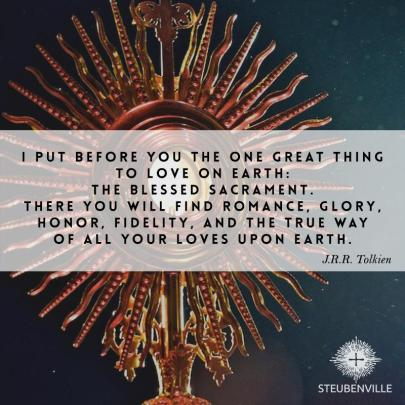 J.R. Tolkein Blessed Sacrament Host